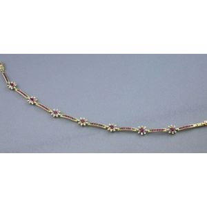 14kt Gold, Ruby, and Diamond Bracelet