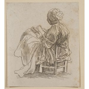 Lot of Nine Etchings:     By or After Stefano della Bella