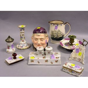 Nine Assorted Decorated Ceramic Table Items