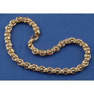 18kt Bi-color Gold Necklace