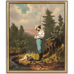 Attributed to Alvan Fisher (Massachusetts, 1792-1863)      Baiting the Hook