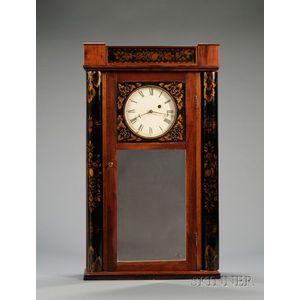 Mahogany Mirror Wall Clock Attributed to Samuel Abbott