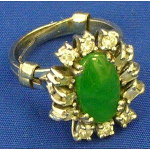 Jade and Diamond Ring.