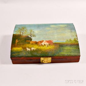 Paint-decorated Dome-top Jewelry Box