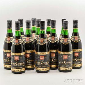 Torres Gran Coronas Reserva Black Label 1978, 12 bottles