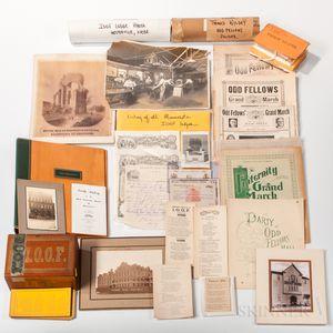 Extensive Collection of Odd Fellows Paper Ephemera
