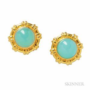 18kt Gold and Opal Earrings, Elizabeth Locke