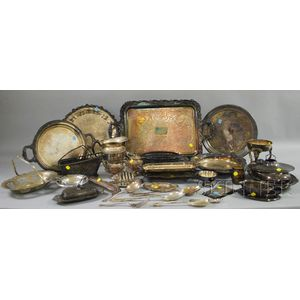 Group of Silver-plated Serving and Tableware