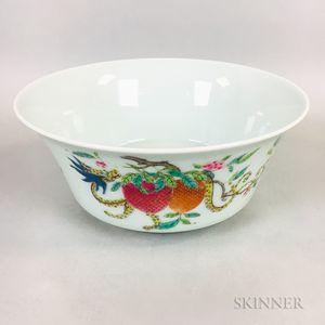 Enameled Porcelain Bowl