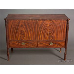 Federal Grain-painted Chest over Drawers