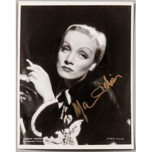 Dietrich, Marlene (1901-1992) Signed Photograph.