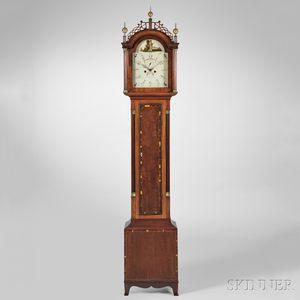 Levi and Abel Hutchins Mahogany Tall Clock