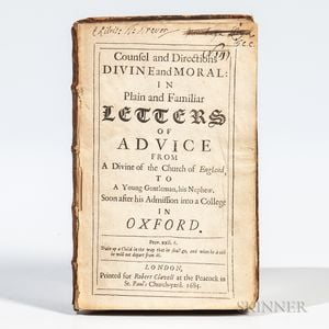 Grenville, Denis (1637-1703)Counsel and Directions Divine and Moral in Plain and Familiar Letters of Advice.