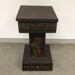 Black-painted Decorative Stand