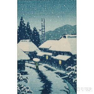 Kawase Hasui (1883-1957), Village in the Snow