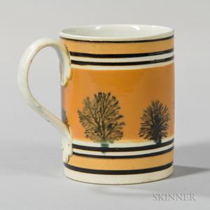 Mocha-decorated Half-pint Mug