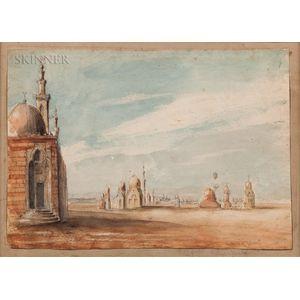 John Prendergast (American, b. 1815)      Tombs of Caliphs, Cairo