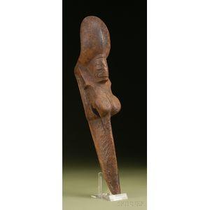 Polynesian Carved Wood Stilt Step