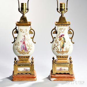 Pair of Aesthetic Movement Porcelain Vases