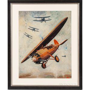 American School, Mid-20th Century    Aerial Dogfight