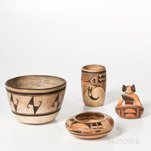 Four Southwest Polychrome Pottery Vessels