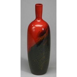 Royal Doulton Veined Flambe Vase