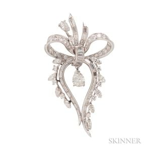 Platinum and Diamond Brooch