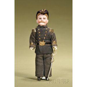 Admiral Richmond Pearson Hobson Portrait Doll
