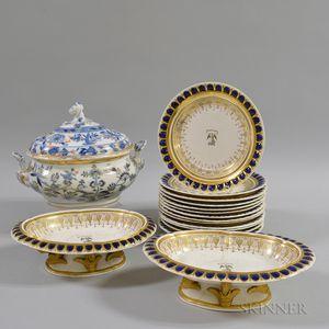Sixteen Pieces of Ceramic Tableware