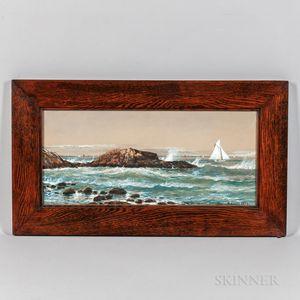 Edmund Darch Lewis (Pennsylvania, 1835-1910)      Sailboats Near Shore