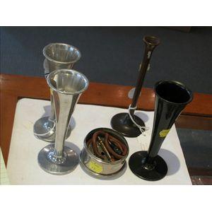 Phonendoscope and Four Monaural Stethoscopes
