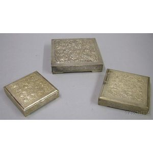 Three Middle Eastern Silver Boxes