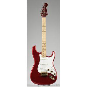 American Electric Guitar, Fender Musical Instruments, c. 1980, Model Strat
