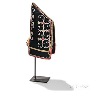 Micmac Beaded and Silk Applique Decorated Woman