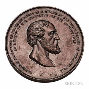 1866 Bronze General George Meade Medal
