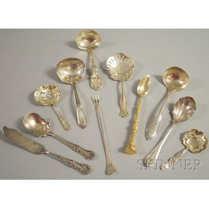 Seven Silver Serving Items