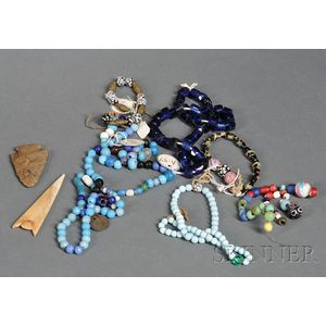 Lot of Plains Trade Bead Adornments
