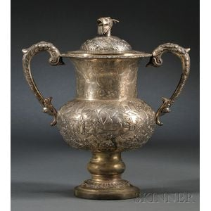 Chinese Export Silver Cup and Cover