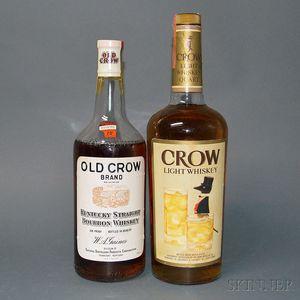 Mixed Old Crow, 1 4/5 quart bottle 1 quart bottle