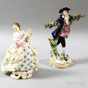 Two Continental Porcelain Figures