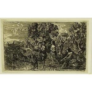 Claude Gellee, called Claude Lorrain (French, 1600-1682)    The Ford (Le passage du gué)