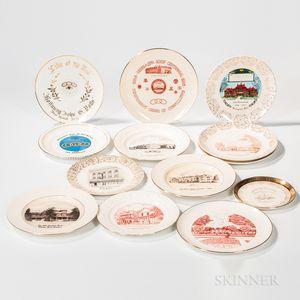 Thirteen Odd Fellows Anniversary and Commemorative Plates