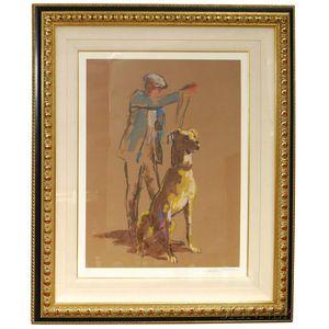 LeRoy Neiman (American, 1921-2012)      Great Dane