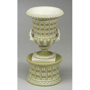 Wedgwood Three Color Jasper Dip Dice Ware Vase