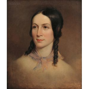 Thomas Sully (Anglo/American, 1783-1872)      Portrait of Amelia Colter (née Postlethwaite) Mandeville (1818-1876)