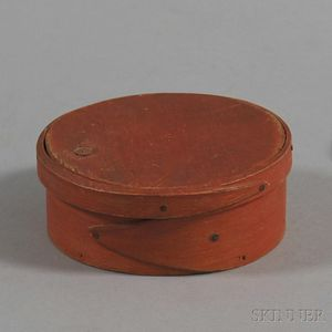Bittersweet-painted Lapped-seam Covered Box