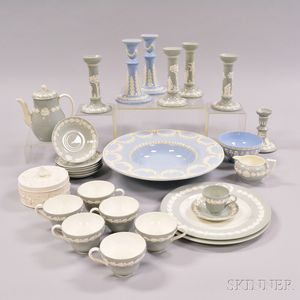 Twenty-eight Wedgwood Embossed Queen