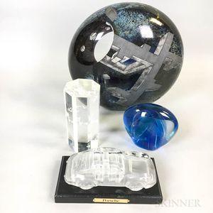 Four Pieces of Modern Art Glass