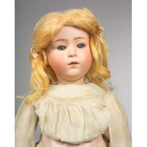 Heubach 7247 Glass-eyed Pouty Girl Doll