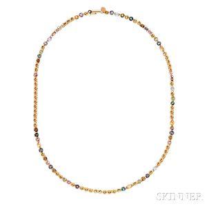 22kt Gold Gem-set Necklace, Mallary Marks